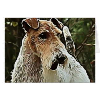 Wire Fox Terrier Card