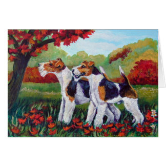 Wire Fox Terrier Cards