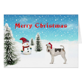 Wire Fox Terrier Christmas Card