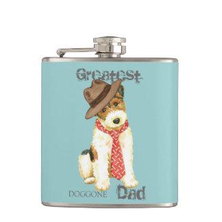 Wire Fox Terrier Dad Hip Flask