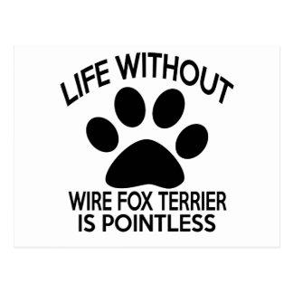 WIRE FOX TERRIER DESIGNS POSTCARD