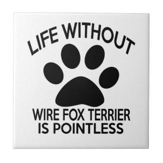 WIRE FOX TERRIER DESIGNS SMALL SQUARE TILE