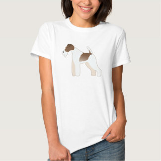 Wire Fox Terrier Dog Breed Illustration Silhouette Tee Shirt
