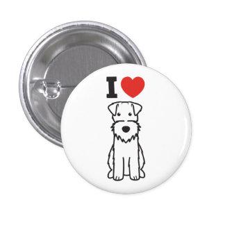 Wire Fox Terrier Dog Cartoon Button