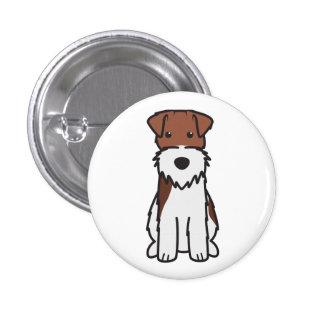 Wire Fox Terrier Dog Cartoon Pinback Button