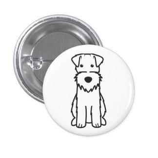 Wire Fox Terrier Dog Cartoon Buttons