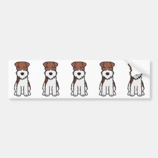 Wire Fox Terrier Dog Cartoon Bumper Sticker