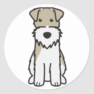 Wire Fox Terrier Dog Cartoon Classic Round Sticker
