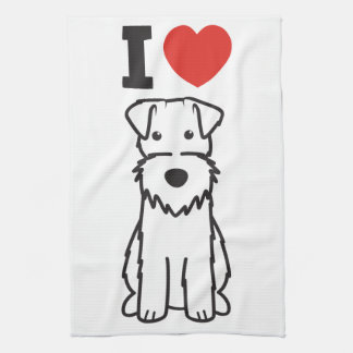 Wire Fox Terrier Dog Cartoon Hand Towels