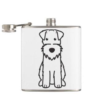 Wire Fox Terrier Dog Cartoon Hip Flask