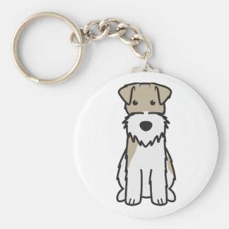 Wire Fox Terrier Dog Cartoon Key Chains
