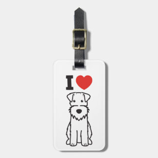 Wire Fox Terrier Dog Cartoon Tags For Bags