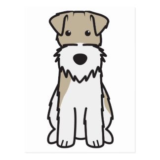 Wire Fox Terrier Dog Cartoon Postcard