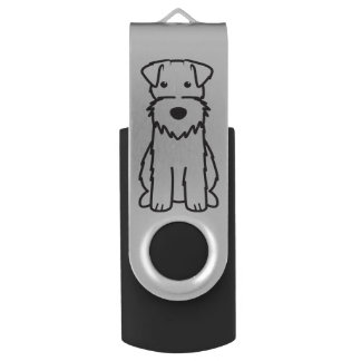 Wire Fox Terrier Dog Cartoon Swivel USB 3.0 Flash Drive
