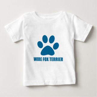 WIRE FOX TERRIER DOG DESIGNS BABY T-Shirt