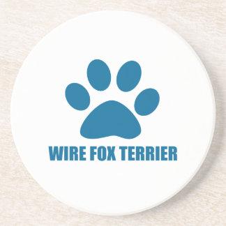 WIRE FOX TERRIER DOG DESIGNS COASTER