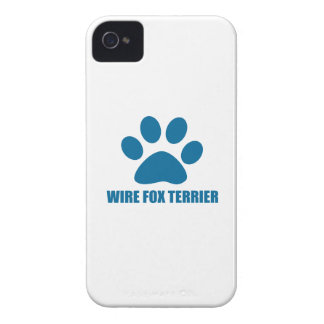 WIRE FOX TERRIER DOG DESIGNS iPhone 4 COVER