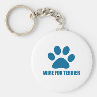 WIRE FOX TERRIER DOG DESIGNS KEY RING