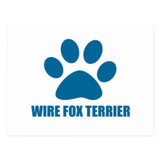 WIRE FOX TERRIER DOG DESIGNS POSTCARD
