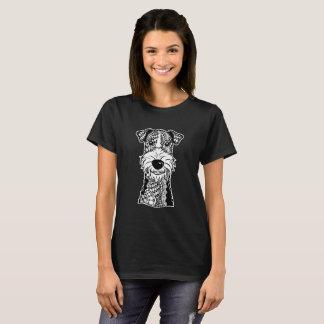 Wire Fox Terrier Face Graphic Art T-Shirt