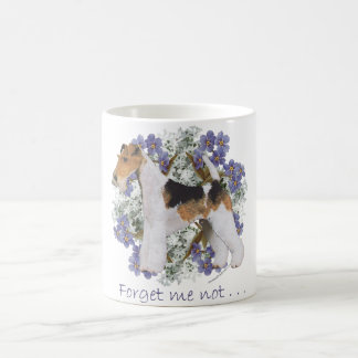 Wire Fox Terrier Forget-Me-Not Coffee Mug