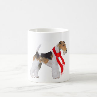 Wire Fox Terrier in a Scarf Coffee Mugs