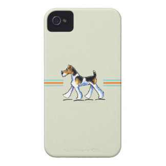Wire Fox Terrier In Motion iPhone 4 Cover