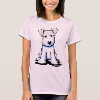 Wire Fox Terrier Ladies Fitted Baby Doll T-Shirt