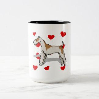 Wire Fox Terrier Love Coffee Mug