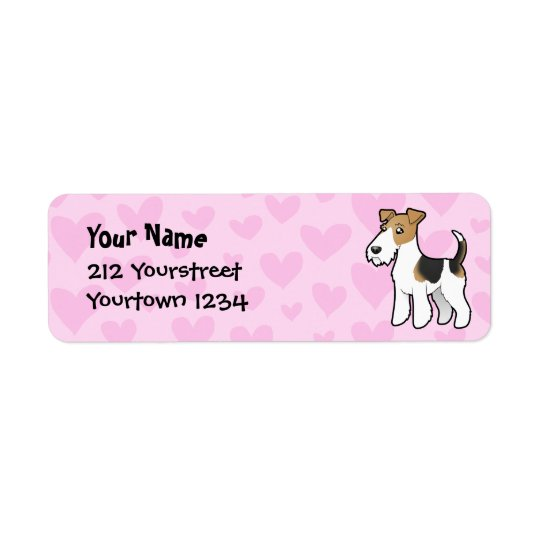 Wire Fox Terrier Love Return Address Label