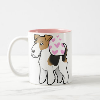 Wire Fox Terrier Love Two-Tone Coffee Mug