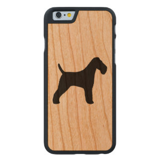 Wire Fox Terrier Silhouette Carved Cherry iPhone 6 Case