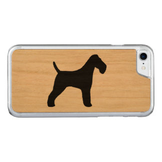 Wire Fox Terrier Silhouette Carved iPhone 8/7 Case
