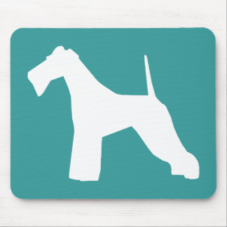 Wire Fox Terrier silhouette Mouse Pad