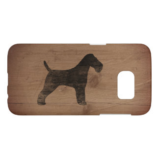 Wire Fox Terrier Silhouette Rustic
