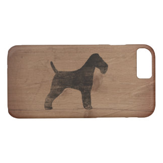Wire Fox Terrier Silhouette Rustic iPhone 8/7 Case