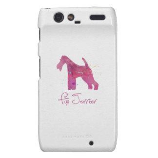 Wire Fox Terrier Silhouette Watercolor Design Droid RAZR Case