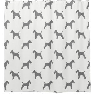 Wire Fox Terrier Silhouettes Pattern Shower Curtain