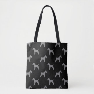 Wire Fox Terrier Silhouettes Pattern Tote Bag