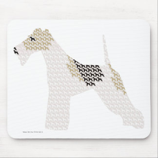 Wire Fox Terrier (silhouettes /shadows) Mouse Pad