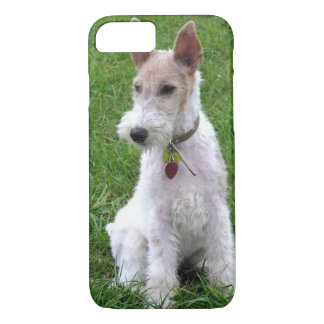 wire fox terrier sitting.png iPhone 7 case