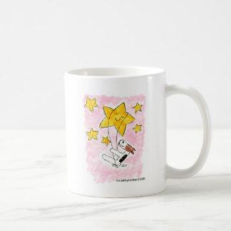 Wire fox terrier swingin' on a star coffee mug