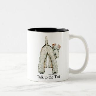 Wire Fox Terrier Tail Two-Tone Coffee Mug