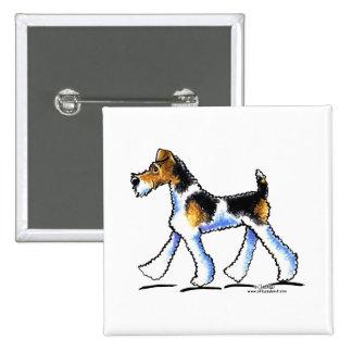 Wire Fox Terrier Trot Button