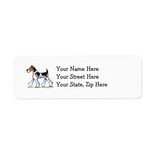 Wire Fox Terrier Trot Return Address Label