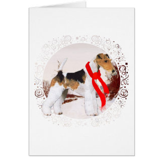Wire Fox Terrier Winter Card