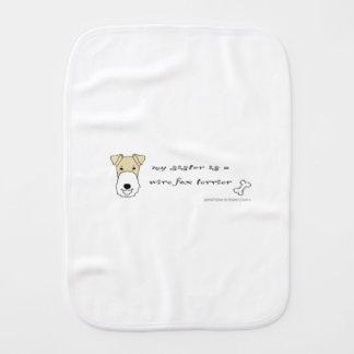 wire fox terrier baby burp cloths