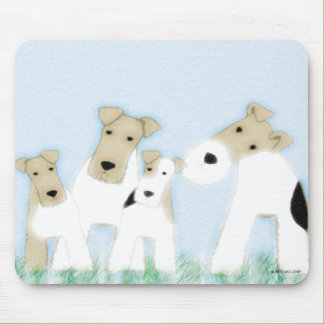 Wire Fox Terriers mousepad