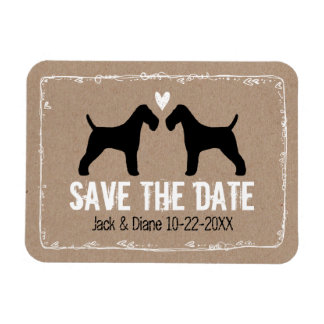 Wire Fox Terriers Wedding Save the Date Rectangular Photo Magnet