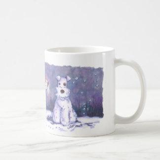 Wire Fox Winter 11oz White Mug